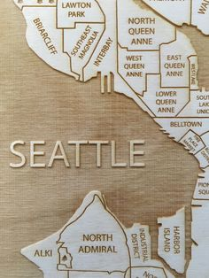 St Paul Engraved Wood Neighborhood Map by Etched Atlas Etched