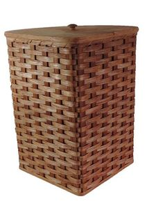 Amish Handmade Corner Hamper Basket   Small