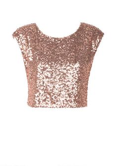 Shell Pink Sequin Crop Top £19.99 | Outfit ideas | Pinterest ...