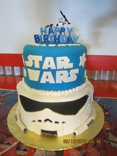 Star Wars, Storm Trooper, Cake, Boys Cakes, Birthday Cakes