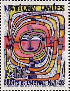 U.N. Hundertwasser stamp