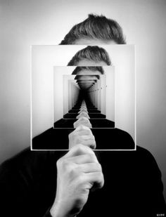 Trippy Mirror Photo Created Without the Help of Photoshop photography Reflection Photography, White Photography, Portrait Photography, Mirror Photography, Reflection Art, Flash Photography, Photoshop Photography, Photography Tutorials, Beauty Photography