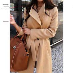 Available Sizes : Shoulder Width(cm) : Bust(cm) : Length(cm) : Sleeve Length(cm) : Type : Loose Color : Khaki Decoration : Pockets Material : Dacron Collar : Turndown Collar Pattern : Plain Sleeve Length : Long Sleeve Coat Sale, Color Khaki, Sweater Coats, Coats For Women, Long Sleeve, Sleeves, Clothes, Buttons, Pockets