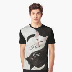 """I Love Cat"" A-Line Dress by clecio   Redbubble Racerback Tank Top, Shirt Dress, T Shirt, Chiffon Tops, Line, Actors, Cat, Tank Tops, School Supplies"