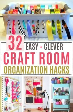 Clever Ways to Organize Your Craft Supplies Feeling Nifty diy craft room organization ideas - DIY Craft Ideas Craft Storage Cart, Craft Paper Storage, Craft Storage Solutions, Sewing Room Storage, Sewing Room Organization, Sewing Rooms, Organization Ideas, Storage Ideas, Diy Storage