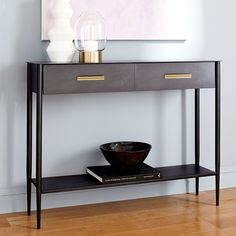 Metalwork Console - Hot-Rolled Steel Finish | west elm UK