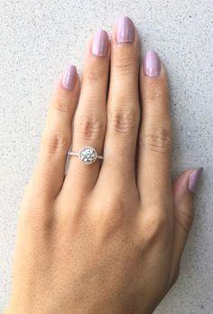 halo engagement ring, rose gold engagement ring, round diamond engagement ring,
