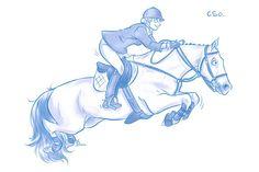 Bruce Millet : Horse, Jumping , Glorious girl https://www.facebook.com/BruceMilletArt