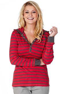KangaROOS Hooded Striped Sweatshirt
