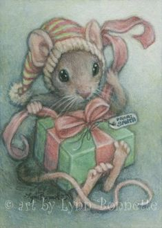 "Art by Lynn Bonnette: ""A Gift From Santa"""