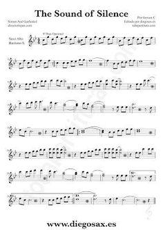 The Sound of Silence - guitar duet? Piano Sheet Music Classical, Alto Sax Sheet Music, Saxophone Music, Violin Sheet Music, Free Sheet Music, Piano Music, Music Tabs, Recorder Music, Music Rock