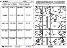figuras para colorear resolviendo operaciones - Google Search