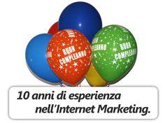 Buon compleanno BusinessFinder: banner apparso sul sito in occasione dei 10 anni di attività.