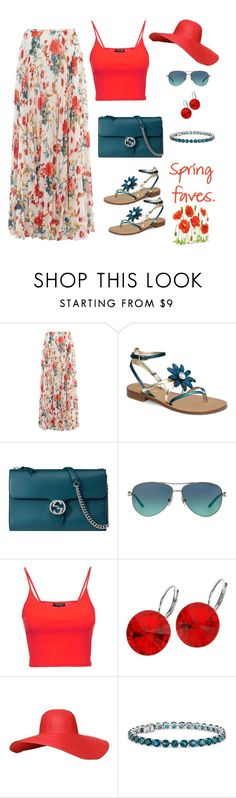 """""""Spring faves"""" by gallant81 ❤ liked on Polyvore featuring Karen Millen, Gucci, Tiffany & Co., Topshop, L. Erickson and Blue Nile"""