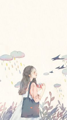 New illustration art girl anime draw Ideas Art And Illustration, Illustration Inspiration, Kawaii Wallpaper, Cute Wallpaper Backgrounds, Screen Wallpaper, Girl Wallpaper, Cartoon Kunst, Cartoon Art, Samsung Wallpapers