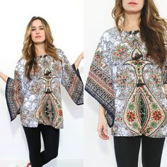 vintage bohemian shirt / 70s Thai top / by RainOrShineVintage, $44.00