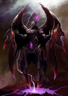 Demônio de obsidiana voador