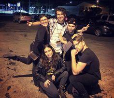 But first here's our Face Off season 10 boy (and girl) band promo photo.  #FaceOff #FaceOffX #FaceOffinspace #instashare #artist #artists #makeup #makeupfx #spfx #specialeffectsmakeup #specialeffects #boyband #boyandgirlband #thenineties #teambadass #teamkoala #thehotbeautifulones #imgoodatthatlookandidoitonpurpose #kindofadick #TeamJohnny #TeamAnt #TeamYvonne #TeamKaleb #TeamMel #frontbutt