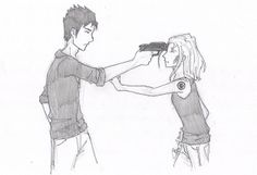 Tobias Eaton and tris Divergent Drawings