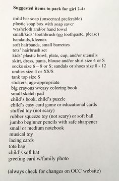 Operation Christmas Child, Plastic Bowls, Sketch Pad, Soap Boxes, Puzzles For Kids, Hair Brush, Bar Soap, Hand Towels, Card Games