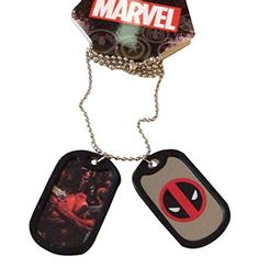 Marvel Comics Deadpool Action and Symbol 2 Tag Metal Dog Tags Costume Accessory * For more information, visit image link.