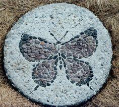 homemade stepping stones | moth stepping stone path zebra spider stepping stones trillium and ...