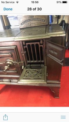 "The ""Belle"" Portable Range Stove & Surrounding Fender, cast iron Stoves, Cast Iron, Range, Ebay, Cookers, Stove, Ovens"
