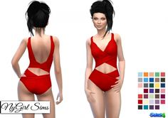 Twist Cutout Swimsuit at NyGirl Sims • Sims 4 Updates