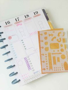 This planner stencil ($10) is an easy way to make consistent layouts.