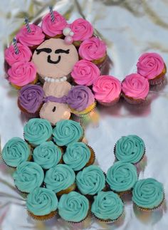 Mermaid cupcake cake More