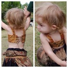 Toddler gypsy girl's renaissance garb