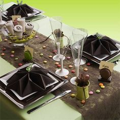 * Décoration de table thème chocolat *