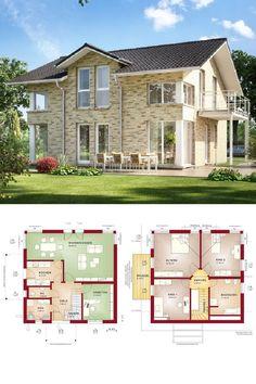 Satteldach Haus Mit Klinker Fassade   Einfamilienhaus Evolution 143 V3 Bien  Zenker Fertighaus   HausbauDirekt