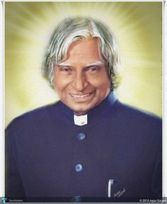 Dr.A.P.J.Abdul Kalam in Digital Art by Aejaz Saiyed