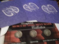 Complete silver dime set in cardboard case w/angel card chosen for you! by…