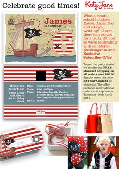 pirate themed invitations..Ahoy, matey!