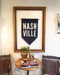 Last week we went to @oaknashville to smell some smells for our fall/winter candle. We love their store but especially how they styled our Nashville banner! Thanks for being such great friends @oaknashville!