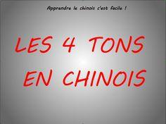 Les 4 tons de la langue chinoise