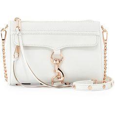 Rebecca Minkoff Mini MAC Crossbody Bag ($195) ❤ liked on Polyvore featuring bags, handbags, shoulder bags, purses, bolsas, accessories, borse, handbags shoulder bags, mini crossbody and leather hand bags