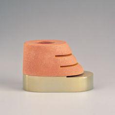 Ron Nagle Untitled (Frank Lloyd Wright cup, 1975 ceramic, 3 1/8 x 5 x 3 in.