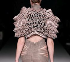 3D printed creations by Dutch fashion designer Iris van Herpen