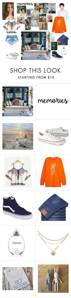 """Sunday of nostalgia and memories."" by tgrr ❤ liked on Polyvore featuring Sibling, Sebastian Professional, Levi's, Converse, Carrots by Anwar Carrots, Vans, Calvin Klein and Royce Leather"