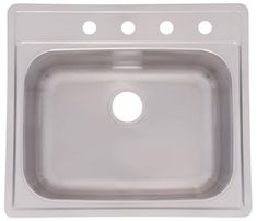 "Franke 25"" X 22"" Drop-In 20 Gauge Single Bowl Sink at Menards®"
