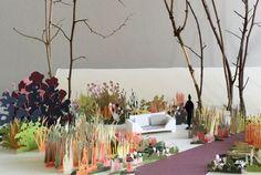 Maquette pour le jardin du magasin Roche Bobois à Coignières ® Les Arplanteurs et Jeanne Roche