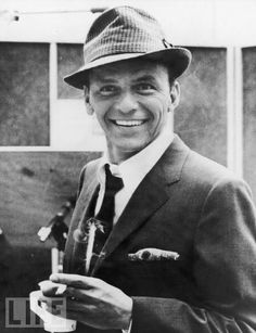 Frank Sinatra ...as a kid his music wasn't my thing, but I have become a fan of the crooner.