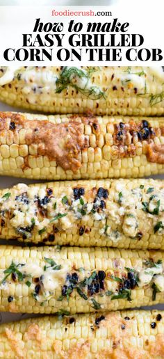 IN THE HUSK! HOW TO MAKE EASY GRILLED CORN ON THE COB | foodiecrush.com At our house, sweet corn is a summer staple and after years of experimenting, I've found cooking corn right in their husks on a hot grill is the easiest and quickest way to cook the best corn on the cob. #grilled #cornonthecob #inthehusk #grilling #easy #recipes #howto #onthecobinhusk #onthecob #corn
