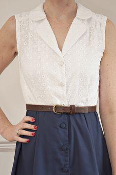 Sew Over It Vintage Shirt Dress sewing pattern - version 2, sleeveless