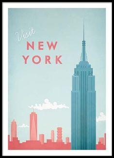 New York Travel Affiche dans le groupe Affiches / Formats / 50x70cm chez Desenio AB (pre0011)