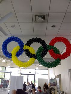 Welcome to Party Buds' Balloon World! - Professional Balloon Decorators: Olympic Rings