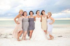 Tan And Purple Bridesmaid Dresses